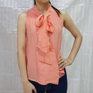 Halter Neck Top in Coral Pink