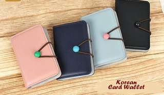Korean Dompet Kartu Kredit Model Kancing Polong