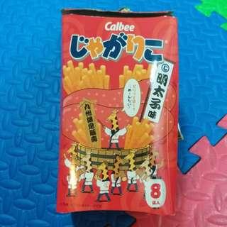 日本 卡樂B 明太子味薯條