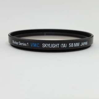 Vivitar Series 1 VMC Skylight UV Filter (58mm)