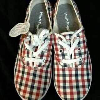 38號 全新未落地 原價1280 特價促銷 限量款 Hush Puppies Pussey 熱銷第一名 女鞋 帆布鞋 休閒鞋