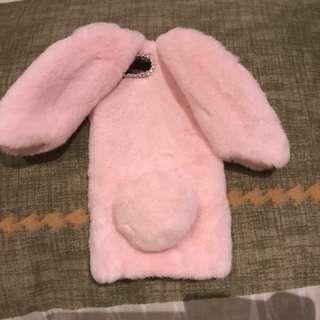 Rabbit fur case iphone 7 plus 8 plus
