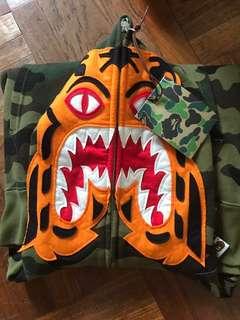 Bape woodland camo tiger hoodie
