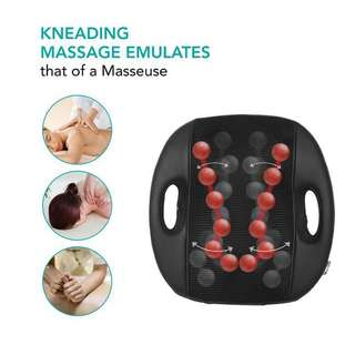 Naipo Shiatsu Back Massager Electric Cushion with Heat Shiatsu Massage Pillow with Heat for Back Machine Relief Neck Shoulder Upper Lower Back Pain for Home Car Office Use