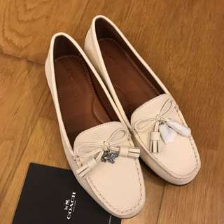 Authentic coach leather loafers