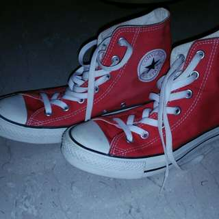 Converse All Star Red Shoes high cut