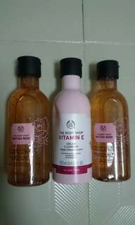 BN. The Body Shop Cleanser & Toner 250ml. UP $20.90ea sell $14ea