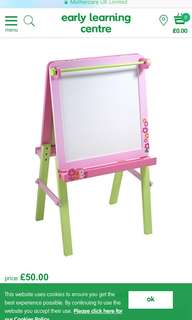 PL ELC Pink Easel Stand 2in1