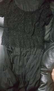 雪紡黑色裙