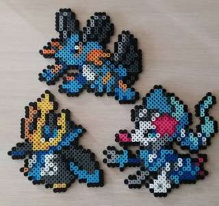 Hama beads design Anime pokemon empoleon primarina swampert