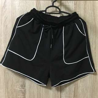 Black Runner Shorts