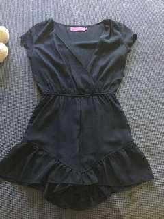 Boohoo black playsuit