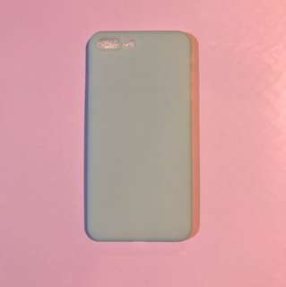 Iphone 7+ 淺藍色軟套 light blue color silicon case