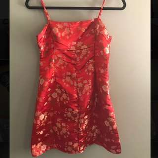 Red Oriental Dress Princess Polly