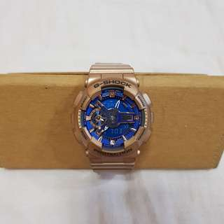 Baby G Blue Gold Watch