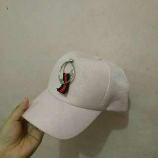 Pink fashionable cap
