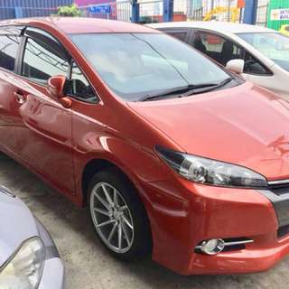 TOYOTA WISH RECOND UNREGISTERED