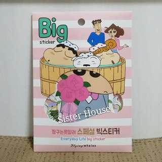 (包郵現貨)🇰🇷蠟筆小新大貼紙套裝 Crayon Shin-chan Big Sticker