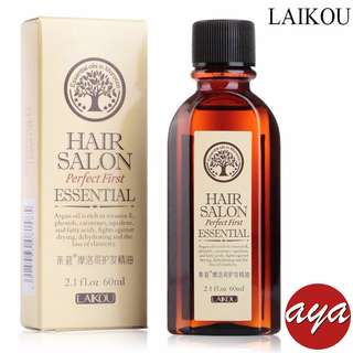 LAIKOU Morocco Nut Hair Oil Argan Oil 60ml Keratin Free Clean Hair Curly Hair Treatment Hair Care Mask