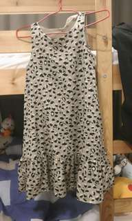 Leopard Print Girl Dress H&M US8-9Y