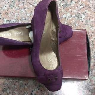 🚚 SENSE1991紫色及麂皮楔形鞋