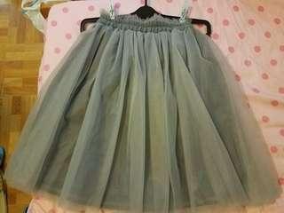 灰色少女紗裙(着過一次)