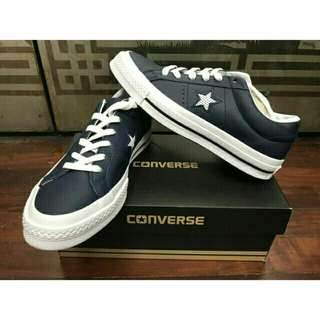 CONVERSE One Star Perf Leather 滑板運動鞋 海軍藍 24