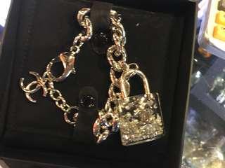 Chanel 季節限定版 鎖頭 I ❤️U 手鍊 購自法國 保證真品