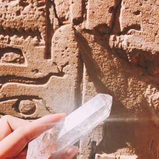 [中顆]埃及金字塔尼羅河能量白水晶原礦