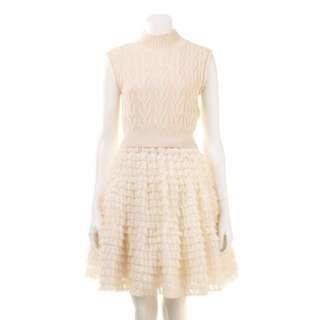 Snidel針織毛衣蛋糕裙洋裝F號