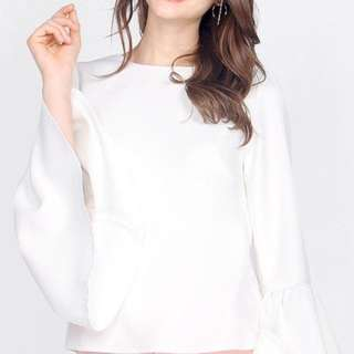 light grey flare/bell sleeves top