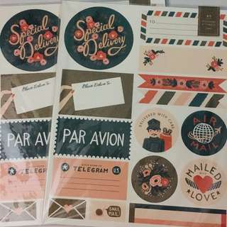 Rifle Paper Co Sticker sheet