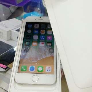 Iphone 6 128gb Silver ex international fullset normal jaya