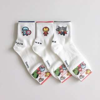 Brand new Marvel superheroes white socks