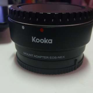 Kooka Camera Adapter Canon to Sony E mount