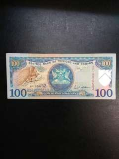 Trinidad and Tobago 100 dollars series 2002