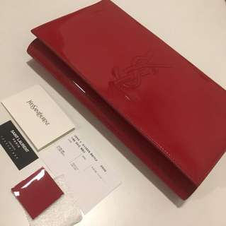YSL Clutch Red Color Authentic