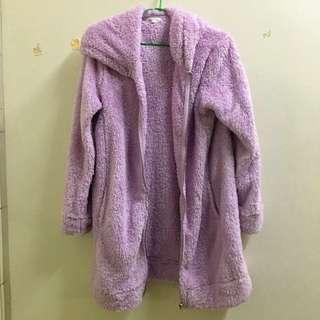 辣妹派對女孩焦點必備 浮誇紫毛外套