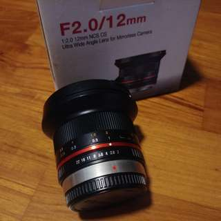 Samyang 12mm F2 (m43 mount)