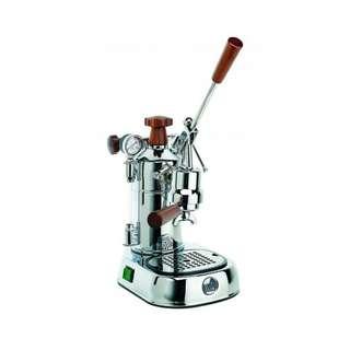 La Pavoni PLH Professional Lusso Lever Espresso Machine wooden handgrips