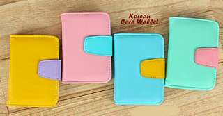 Korean Credit Card Wallet Candy Color