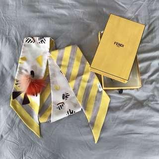 FENDI 絲質頸巾 Maxi Wrappy