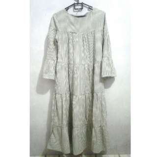 Dress tunik ruffle stripe
