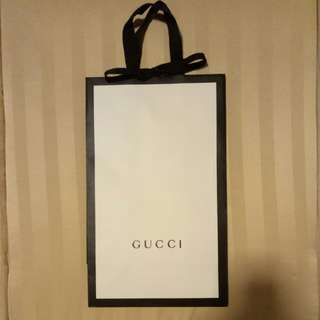 Gucci Paper Bags -small /large