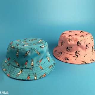 #8 Swimming hooman bucket hat