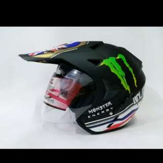 Helmet ARL monster energy matte black