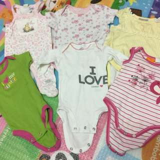 Combo Rompers baby 0-6m
