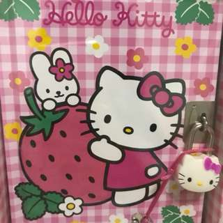 Sanrio Hello Kitty Diary Book with Kitty lock