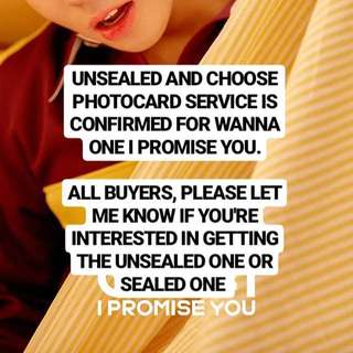 WANNA ONE I PROMISE YOU ALBUM (Can Choose PC)