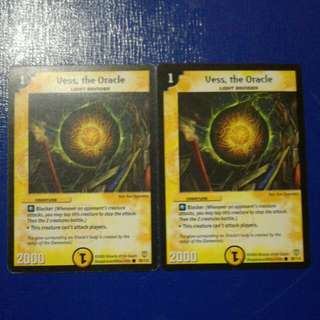 Duel Masters TCG English Vintage Vess, the Oracle X 2